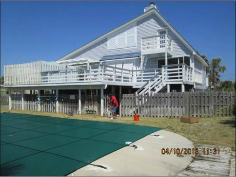 Safety covers are great to close a pool during winter or for vacant house.