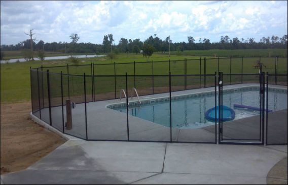Fence can intersect at different angles and gate placement is flexible.